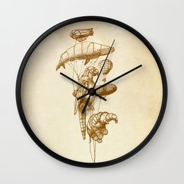 The Helium Menagerie (sepia) Wall Clock