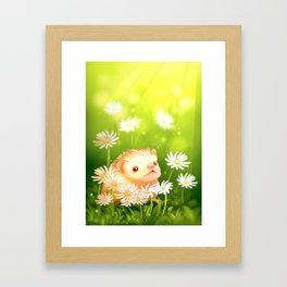 Among flowers and hedgehogs Framed Art Print