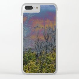 Winters Approach; Spring Stays Imbeded Clear iPhone Case