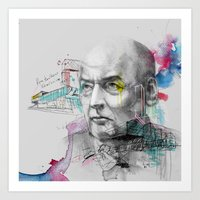 Art Print featuring Rem Koolhaas and Sketches by Podessto