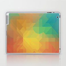 Geometric Pattern // Intricate Detailed Shapes // Gradient Colors (Orange, Yellow, Teal, Green, Red) Laptop & iPad Skin