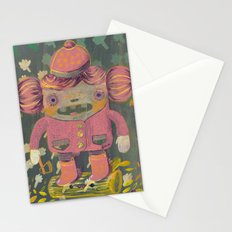 lumberjack girl portrait (sister nature's evil twin) Stationery Cards