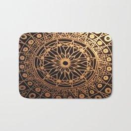 Black & Gold Mandala Bath Mat