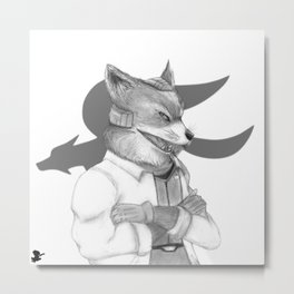 Fox McCloud Metal Print