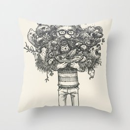 My beard... an amazing thing Throw Pillow