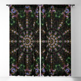 FRACTAL KALEIDOSCOPE MYSTERIOUS FOREST 2 Blackout Curtain