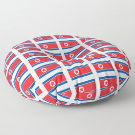 Flag of north korea-korea, korean,Pansori,PyongYang,북조선 Floor Pillow