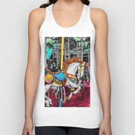 Colorful Carousel Horse at Carnival Unisex Tank Top