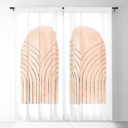 Blush tone arch Blackout Curtain