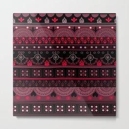 Domino Floral Pattern Metal Print