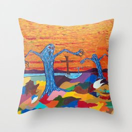 The Screaming Trees Throw Pillow