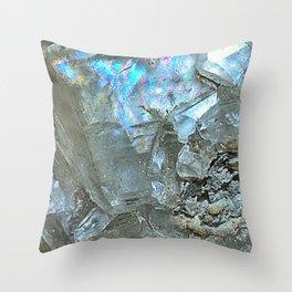 White Calcite Throw Pillow