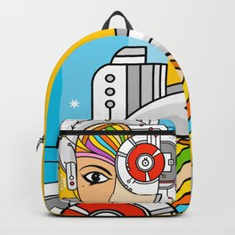 Mujer Robot Backpack