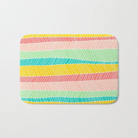 Beach Stripe (Vintage Candy) Bath Mat