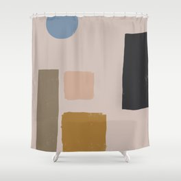 Balanced Shape Abstract Art Shower Curtain