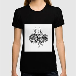 Two Inked Flowers T-shirt