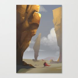 Yellow Pillars Canvas Print