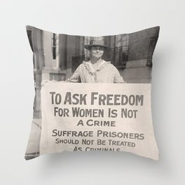 Freedom For Women Is Not A Crime Throw Pillow