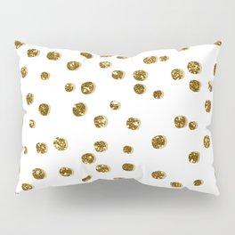Gold Glitter Confetti Pillow Sham