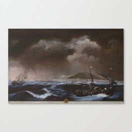 Juan Patricio Morlete Ruiz - View of the Port of Sete (El puerto de Sete) Canvas Print