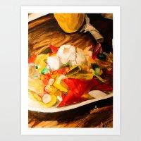 Shrimp Nachos Art Print