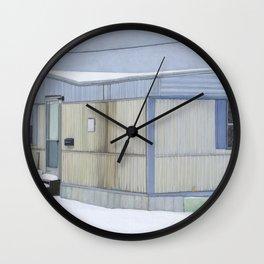 Snow Trailer Wall Clock