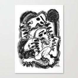 Break Apart - b&w Canvas Print
