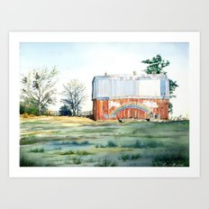Rainbow Barn Art Print