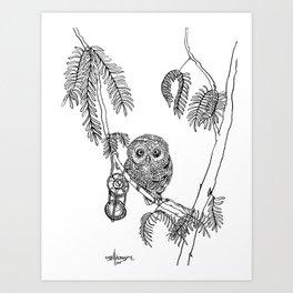 Owl Hour Art Print