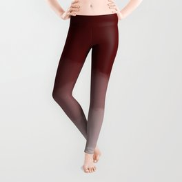 Maroon Watercolor Ombre (maroon/white) Leggings