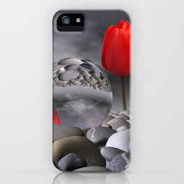 tulip, pebbles and breaking light iPhone Case