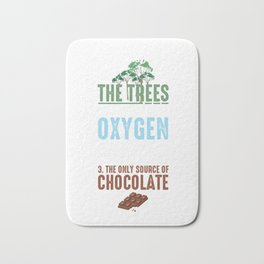 Reasons To Save The Trees Environmental Ecosystem Nature Lovers Gifts Bath Mat