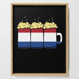 Netherlands Flag Country Beer Brew Gift Serving Tray
