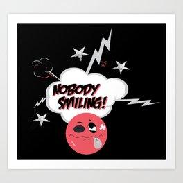Nobody Smiling Emoji- Infrared Art Print