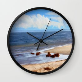 On A Clear Day - Painterly Wall Clock