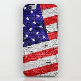 Vintage Patriotic American Flag iPhone Skin