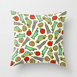 New York, New York Pattern Throw Pillow