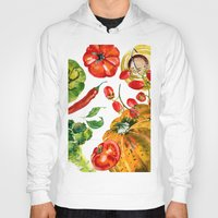 vegetable Hoodies featuring Vegetable mix by Liliya Kovalenko