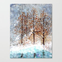 Snow Flurries on Moon Lake up Dewdrop Holler Canvas Print