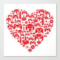 gaming Canvas Prints featuring Gaming Love by Tombst0ne
