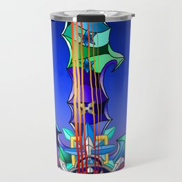 Fusion Keyblade Guitar #141 - Diamond Dust & Axel Chakrams Travel Mug