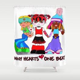 Beat Girlz Shower Curtain