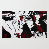 grafitti Area & Throw Rugs featuring Grafitti Manga by Fine2art
