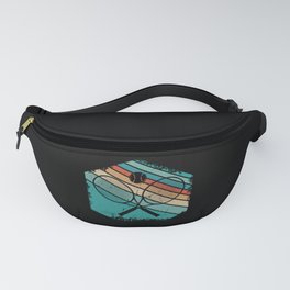 Retro sunset Tennis gifts Fanny Pack