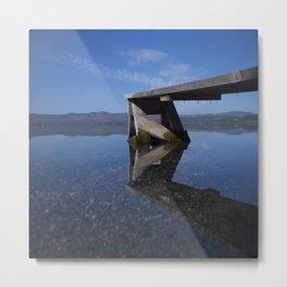 Transparent lake Metal Print