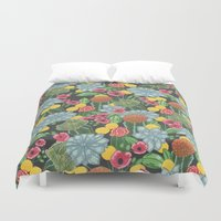 cacti Duvet Covers featuring cacti by Laura Solitrin