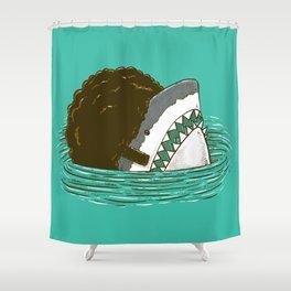 The 70's Shark Shower Curtain
