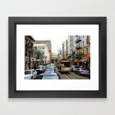 San Francisco Street in Color Framed Art Print