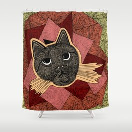 Cattitude: A cat with an attitude Shower Curtain
