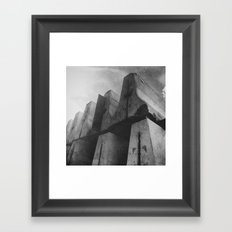 Tower Over Me With Barriers Framed Art Print